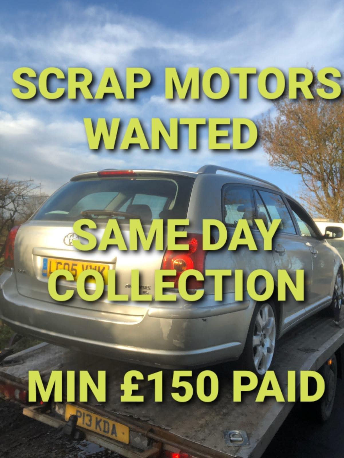 scrap motors wanted poster